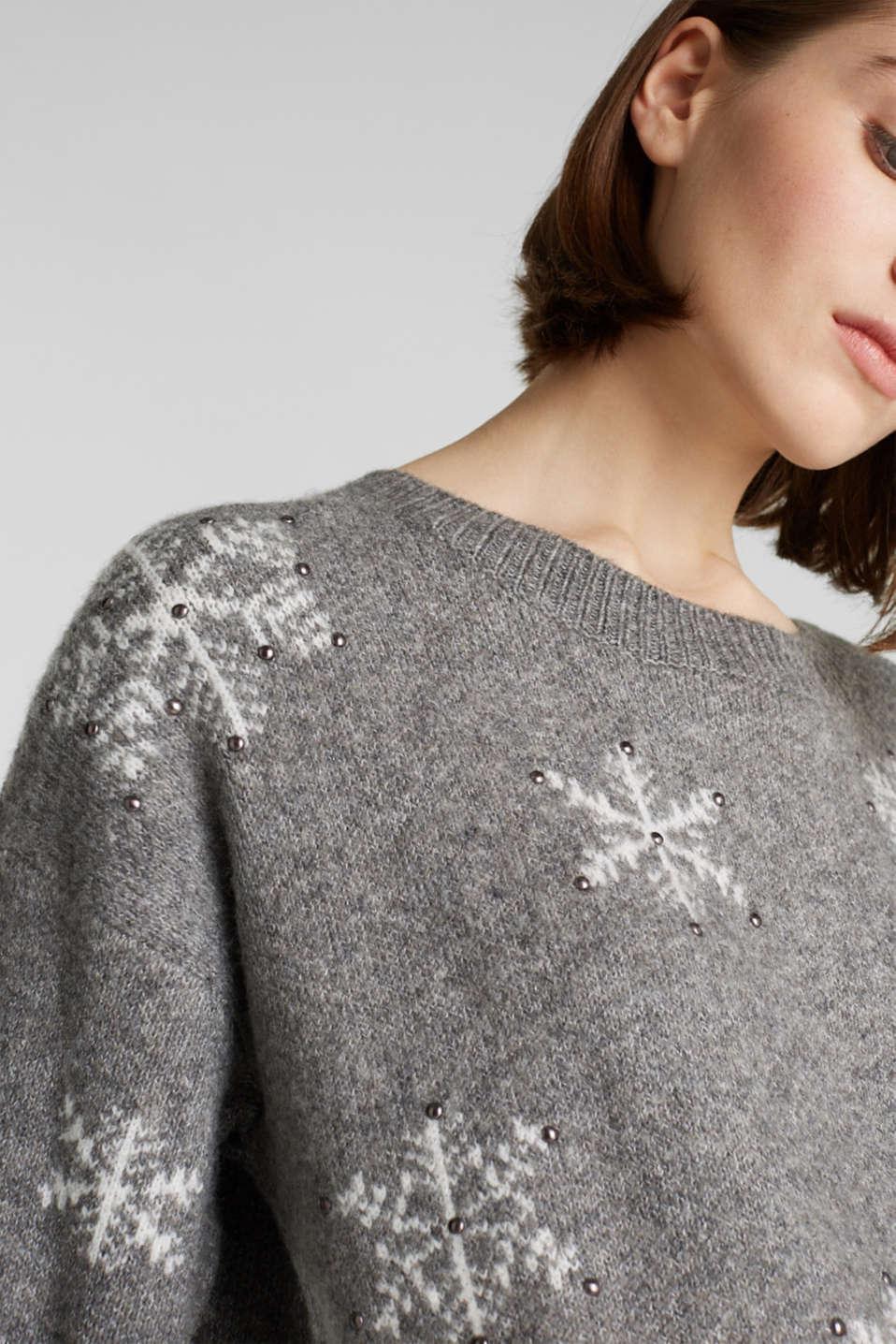 Sweaters, GUNMETAL 4, detail image number 2