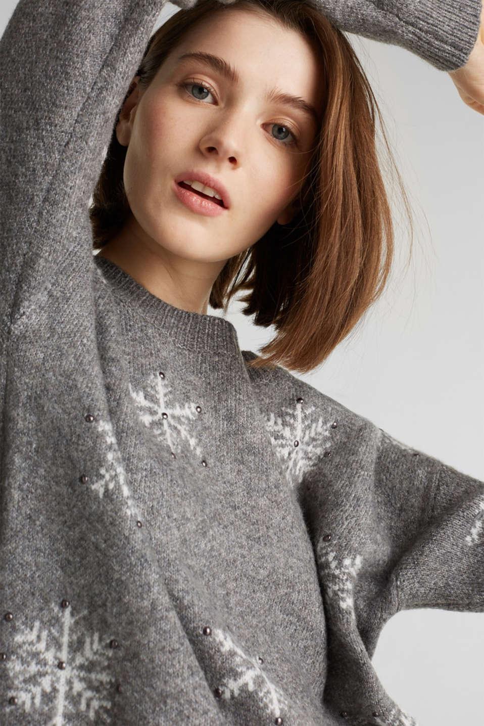 Sweaters, GUNMETAL 4, detail image number 7