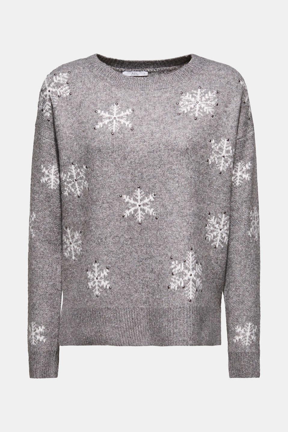 Sweaters, GUNMETAL 4, detail image number 8