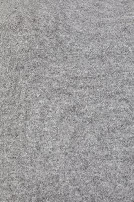 Fluffy sweatshirt with fine melange, GUNMETAL 5, detail