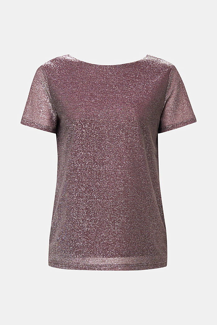 Glittering tee, BORDEAUX RED, detail image number 6