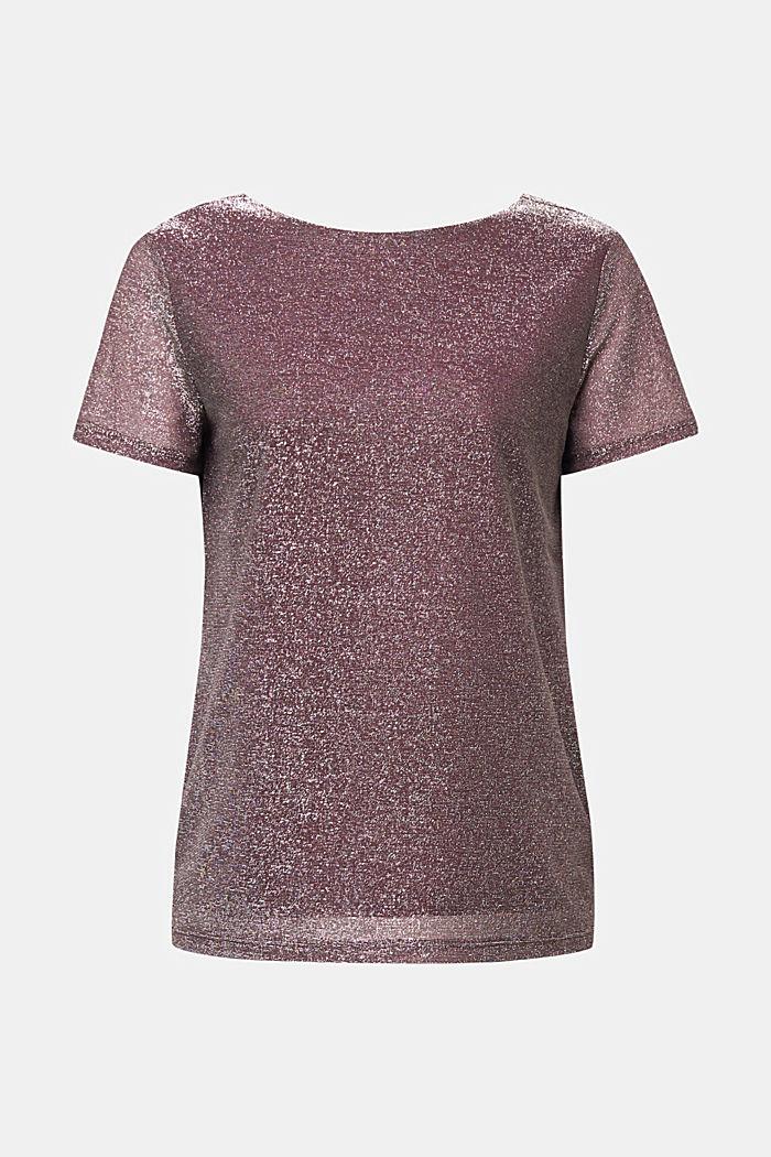 T-Shirt mit Glitzer-Effekt, BORDEAUX RED, detail image number 6