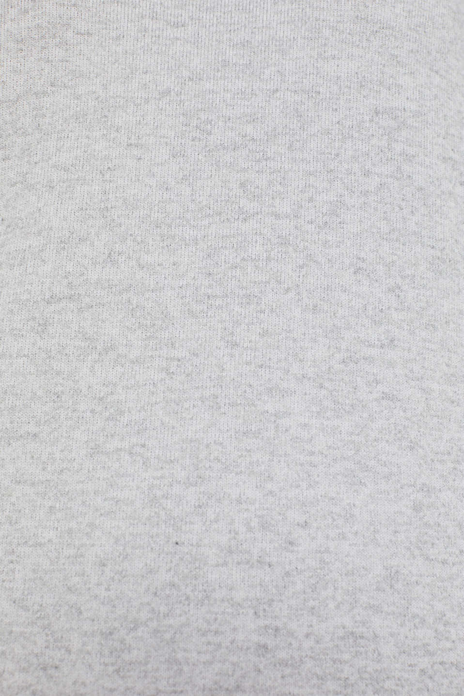 Fluffy long sleeve top trimmed with lace, LIGHT GREY 5, detail image number 4