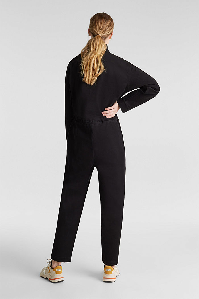 Boiler suit made of stretch cotton, BLACK, detail image number 3