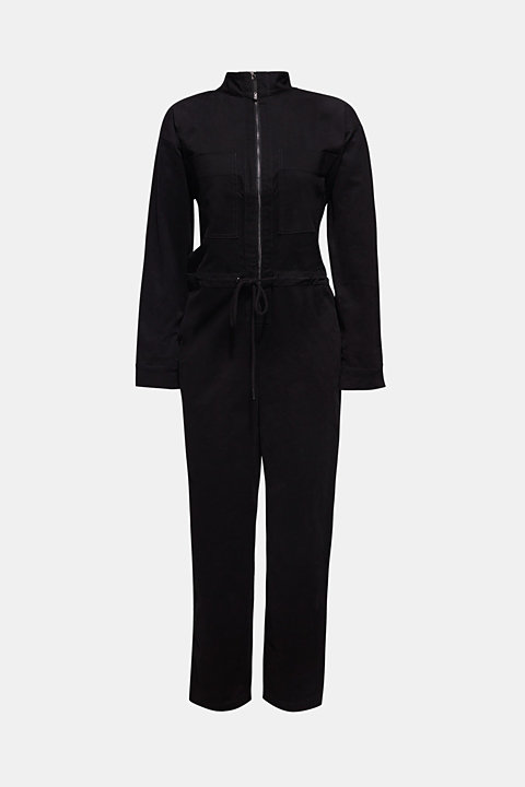 Boiler suit made of stretch cotton