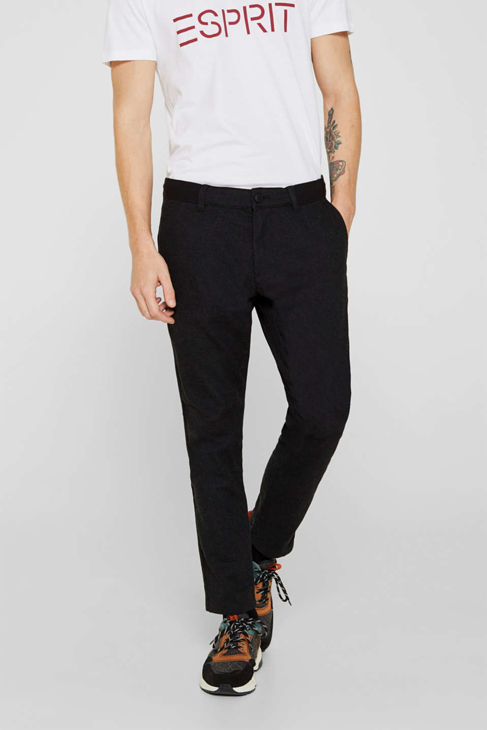 edc - Cropped trousers with a drawstring waistband