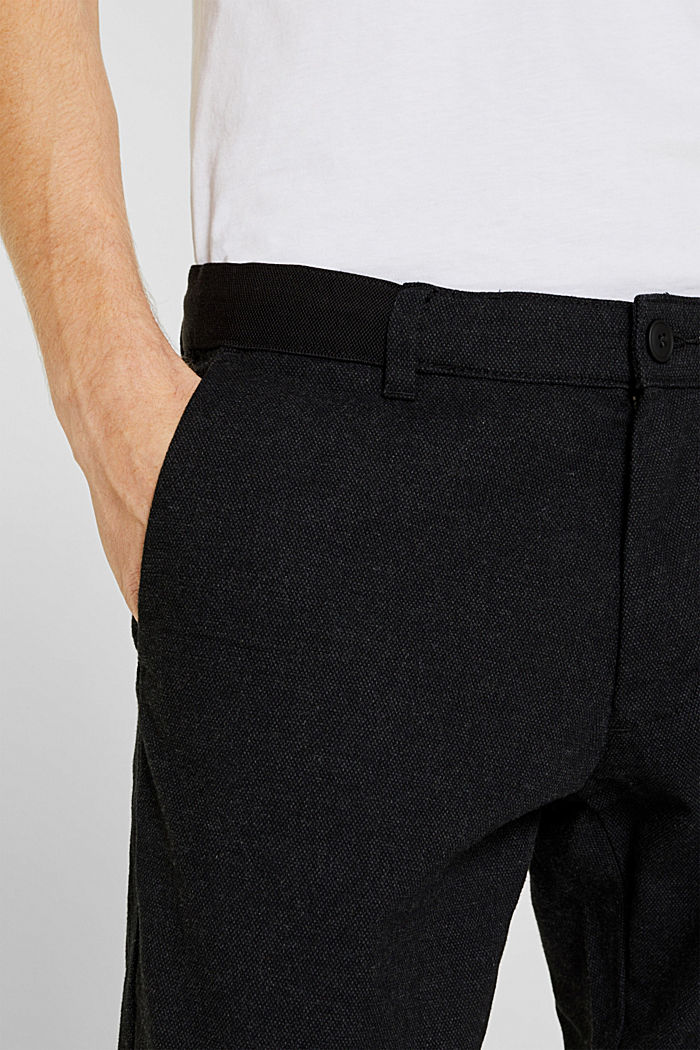 Cropped trousers with a drawstring waistband, ANTHRACITE, detail image number 2
