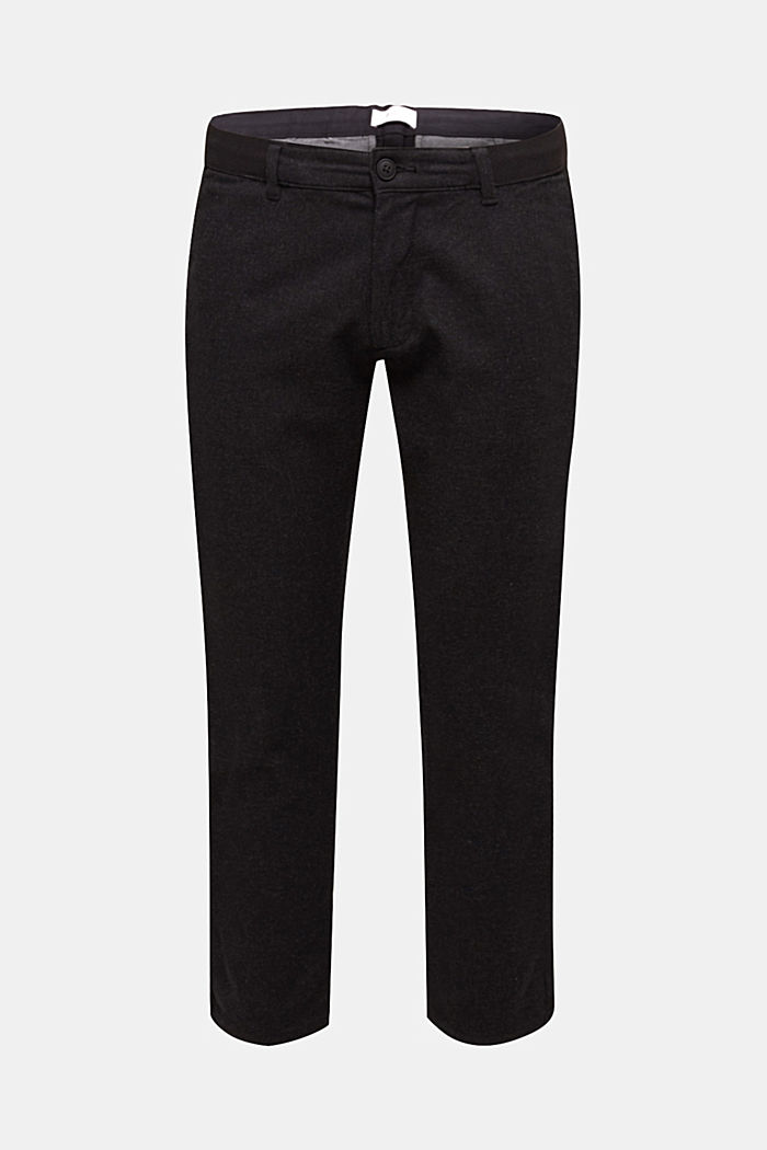 Cropped Pants mit Kordelzugbund, ANTHRACITE, detail image number 0