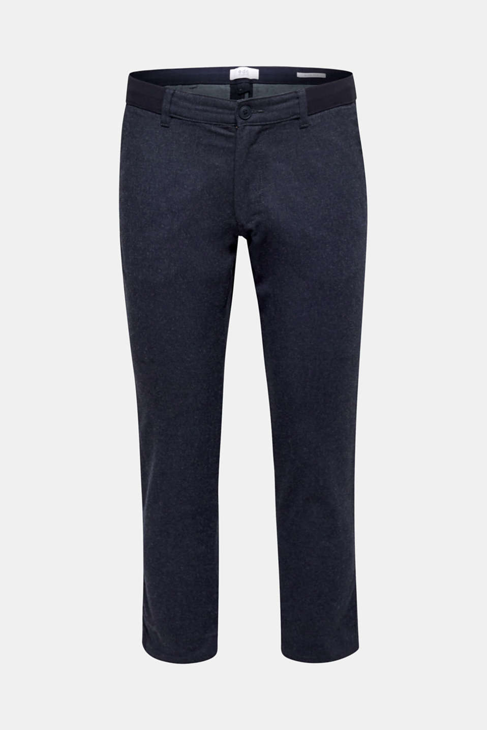 Cropped trousers with a drawstring waistband, NAVY, detail image number 6