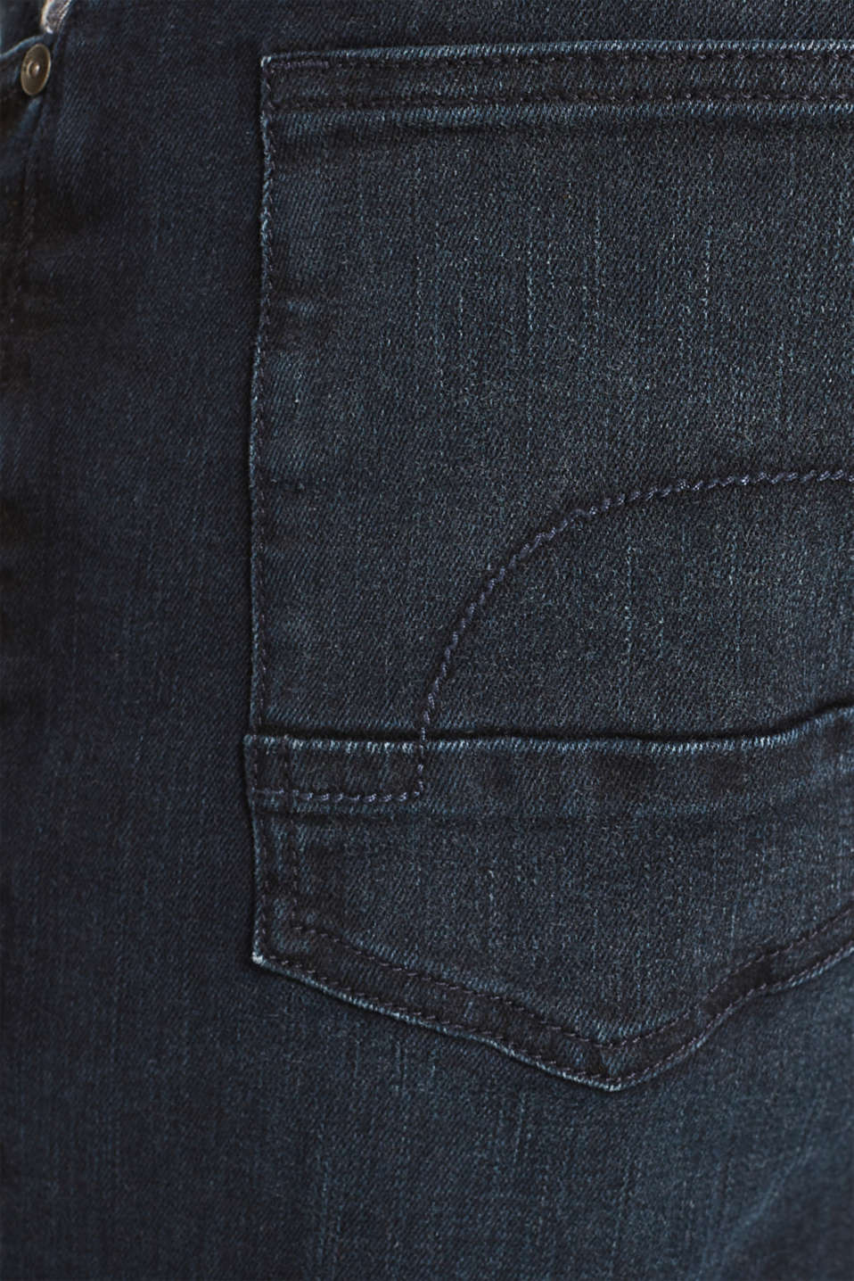 Super stretchy jeans with a washed-out look, BLUE DARK WASH, detail image number 4