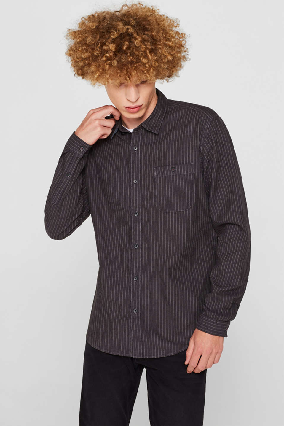Top with pinstripes, 100% cotton