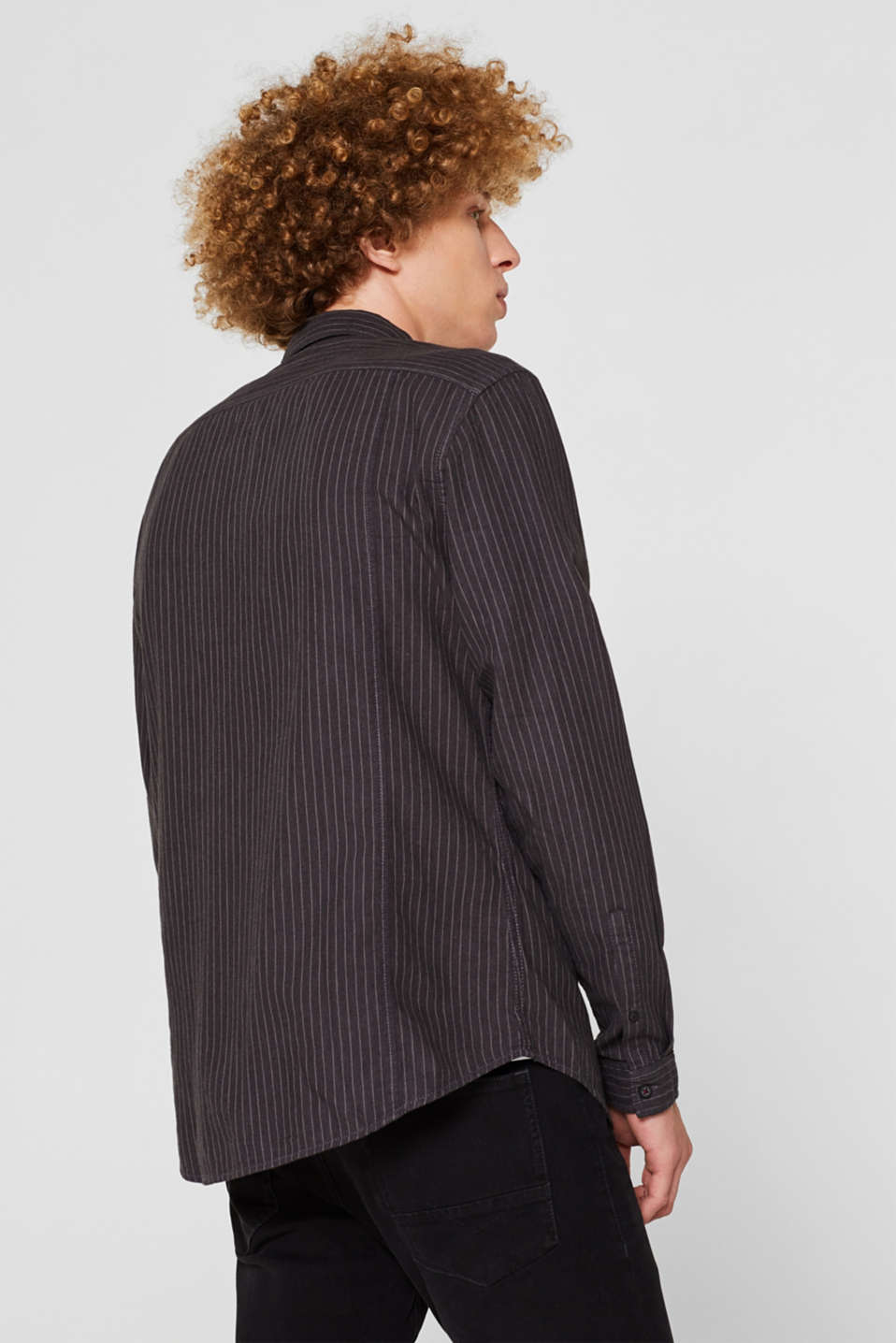 Top with pinstripes, 100% cotton, BLACK, detail image number 3