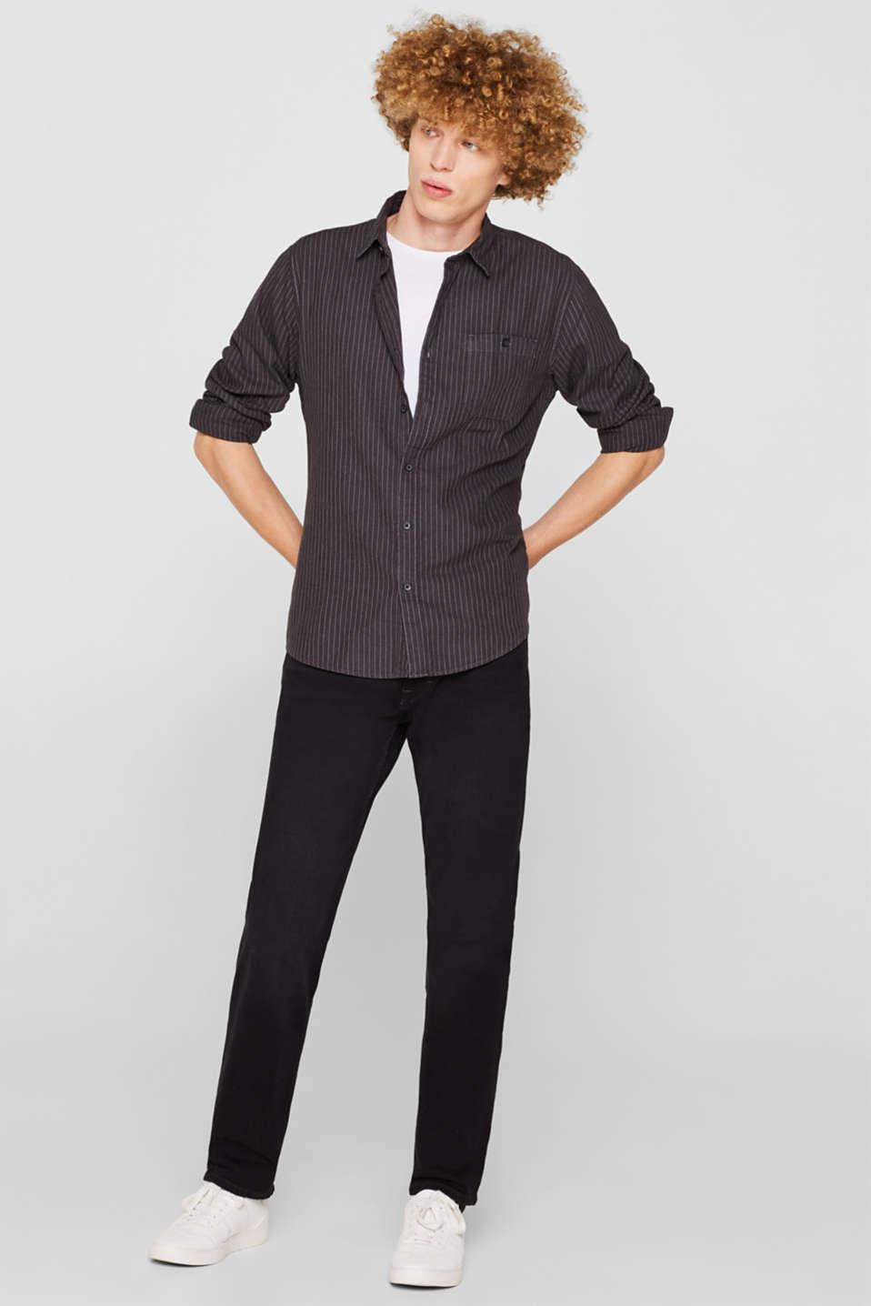 Shirts woven Slim fit, BLACK, detail image number 1