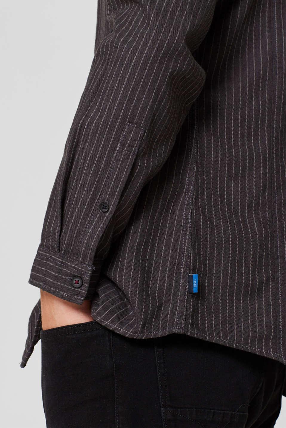 Shirts woven Slim fit, BLACK, detail image number 2