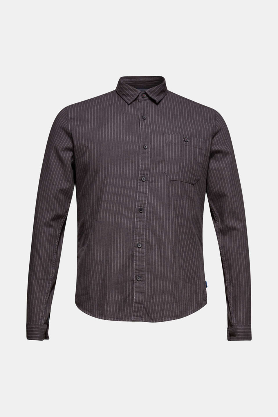 Top with pinstripes, 100% cotton, BLACK, detail image number 6