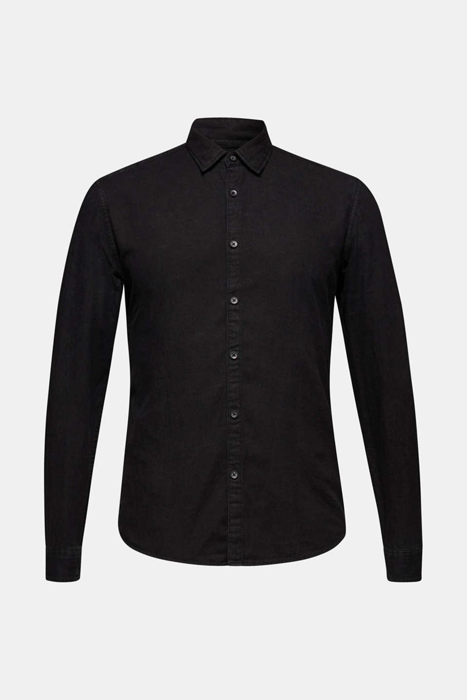 Shirts woven Slim fit, BLACK DARK WASH, detail image number 6