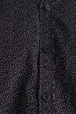 Printed shirt, 100% cotton, BLACK, detail