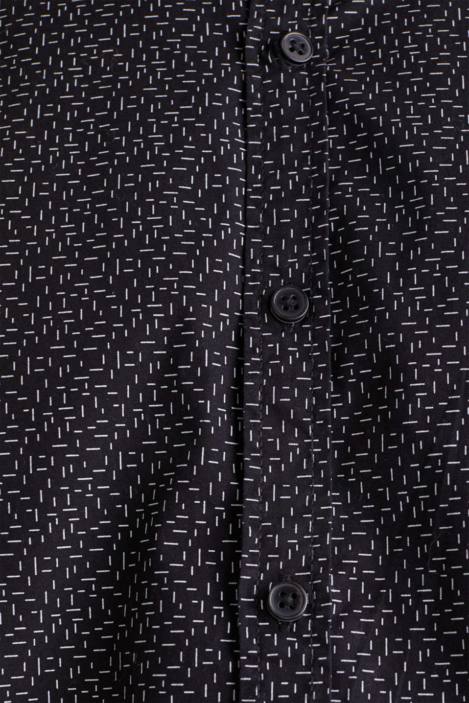 Printed shirt, 100% cotton, BLACK, detail image number 4