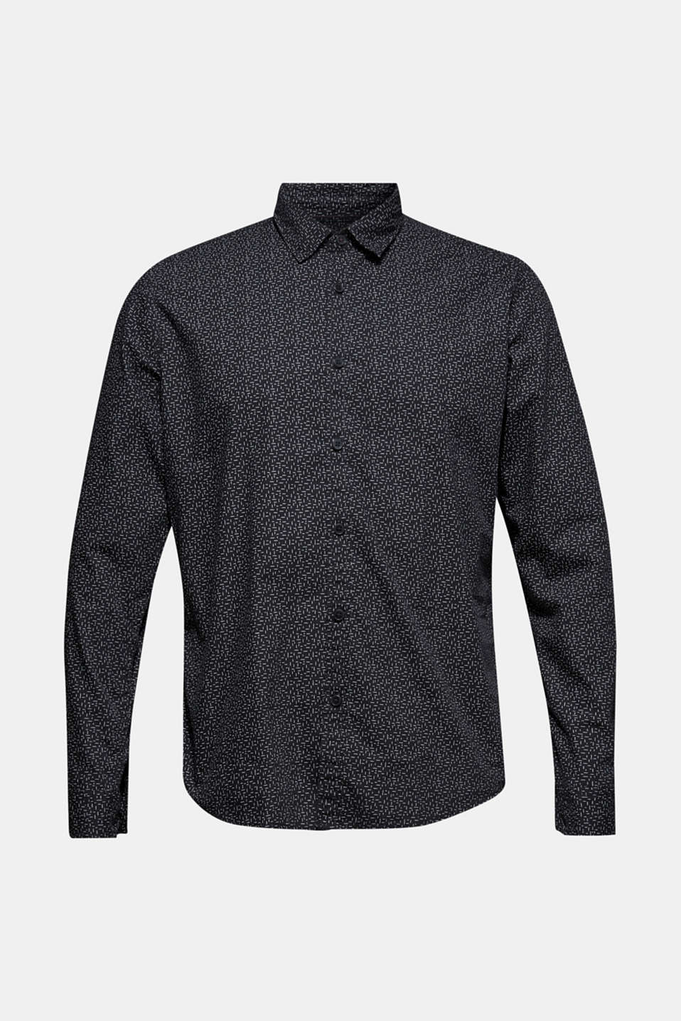 Printed shirt, 100% cotton, BLACK, detail image number 8