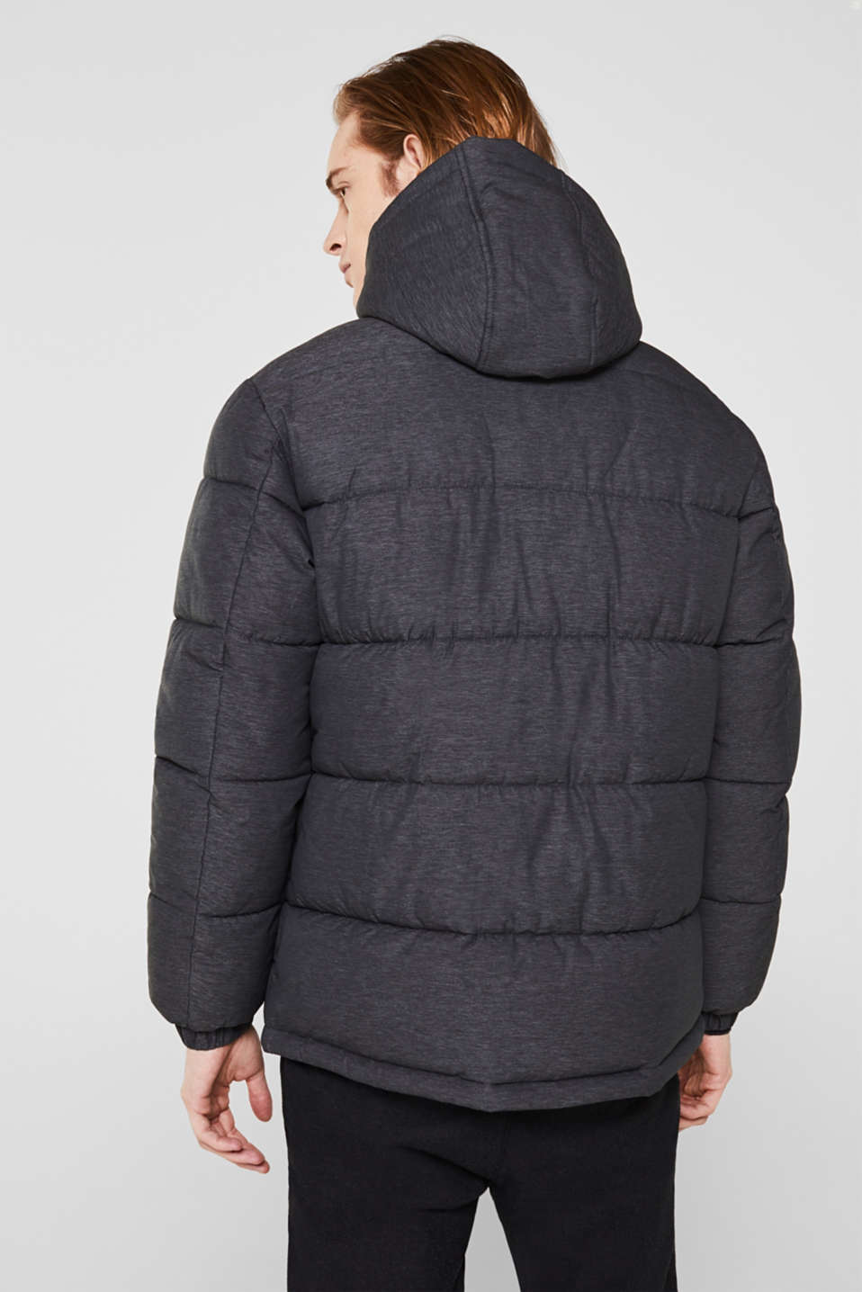 Quilted jacket with an adjustable hood, DARK GREY, detail image number 3