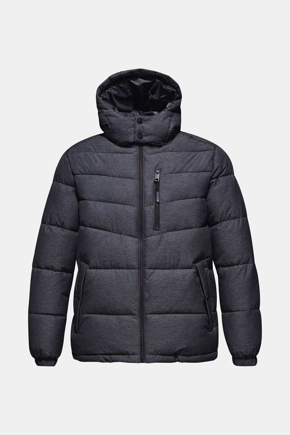 Quilted jacket with an adjustable hood, DARK GREY, detail image number 6