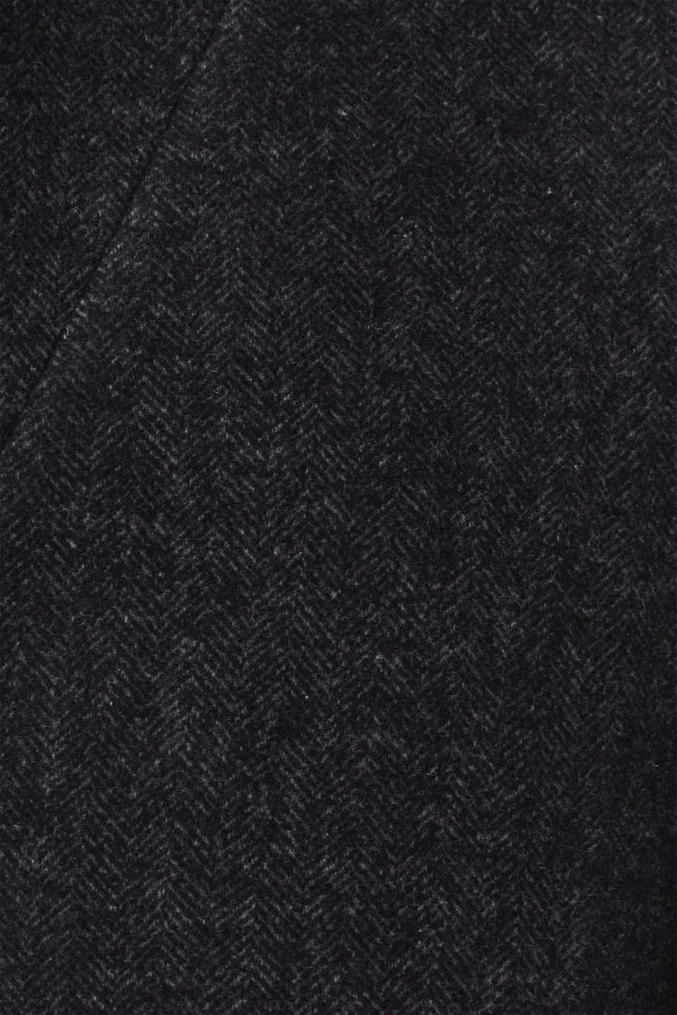 Wool blend: Coat with a herringbone pattern, ANTHRACITE, detail image number 4