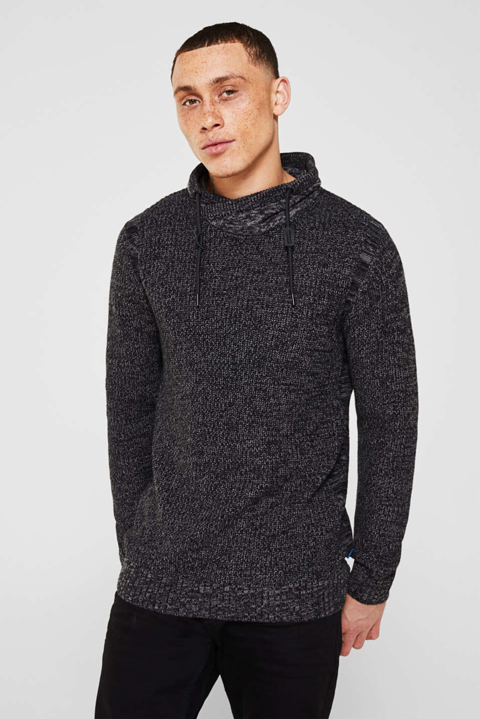 edc - Strick-Sweater mit Tunnelkragen