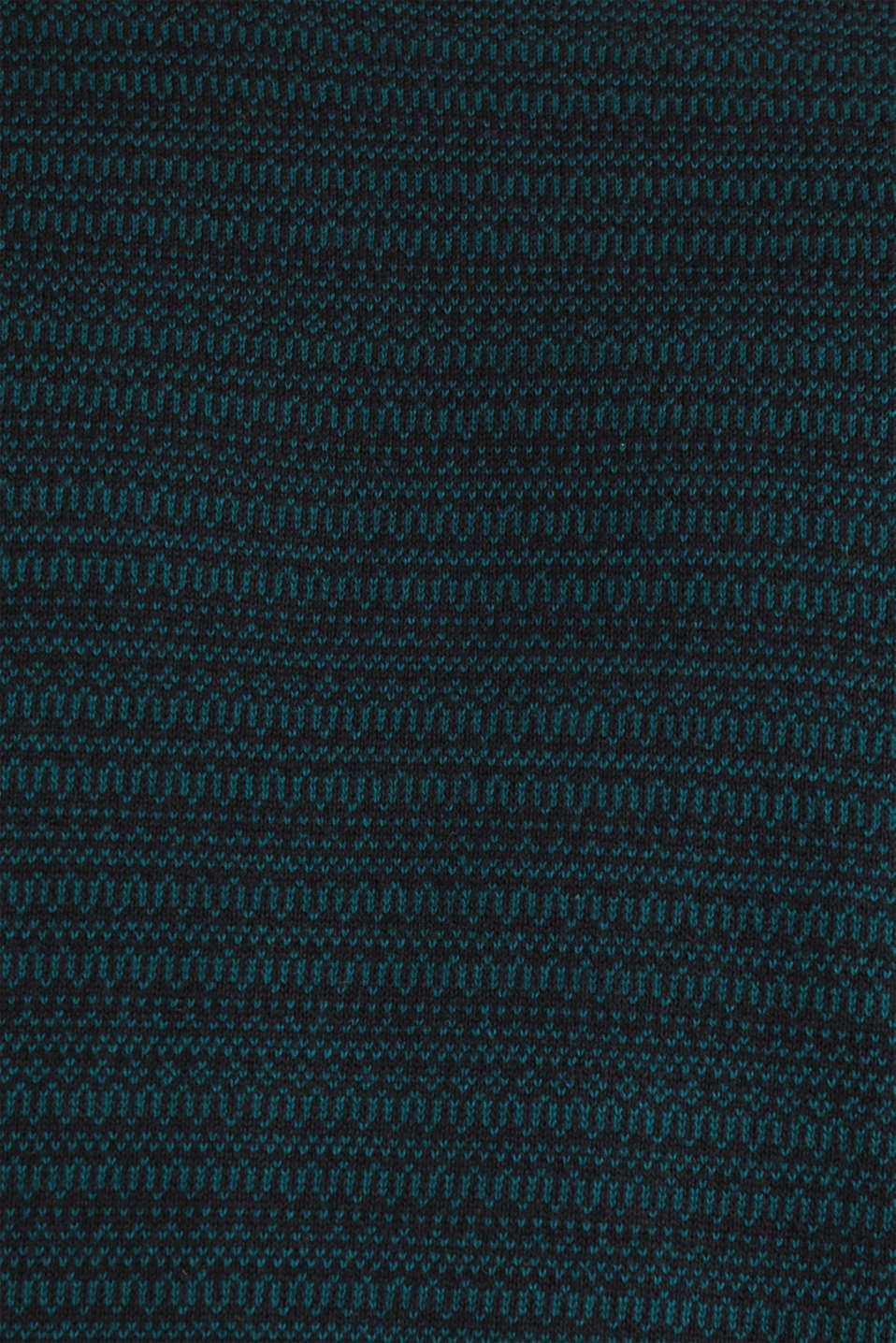 Jacquard jumper made of pure cotton, DARK TEAL GREEN, detail image number 4