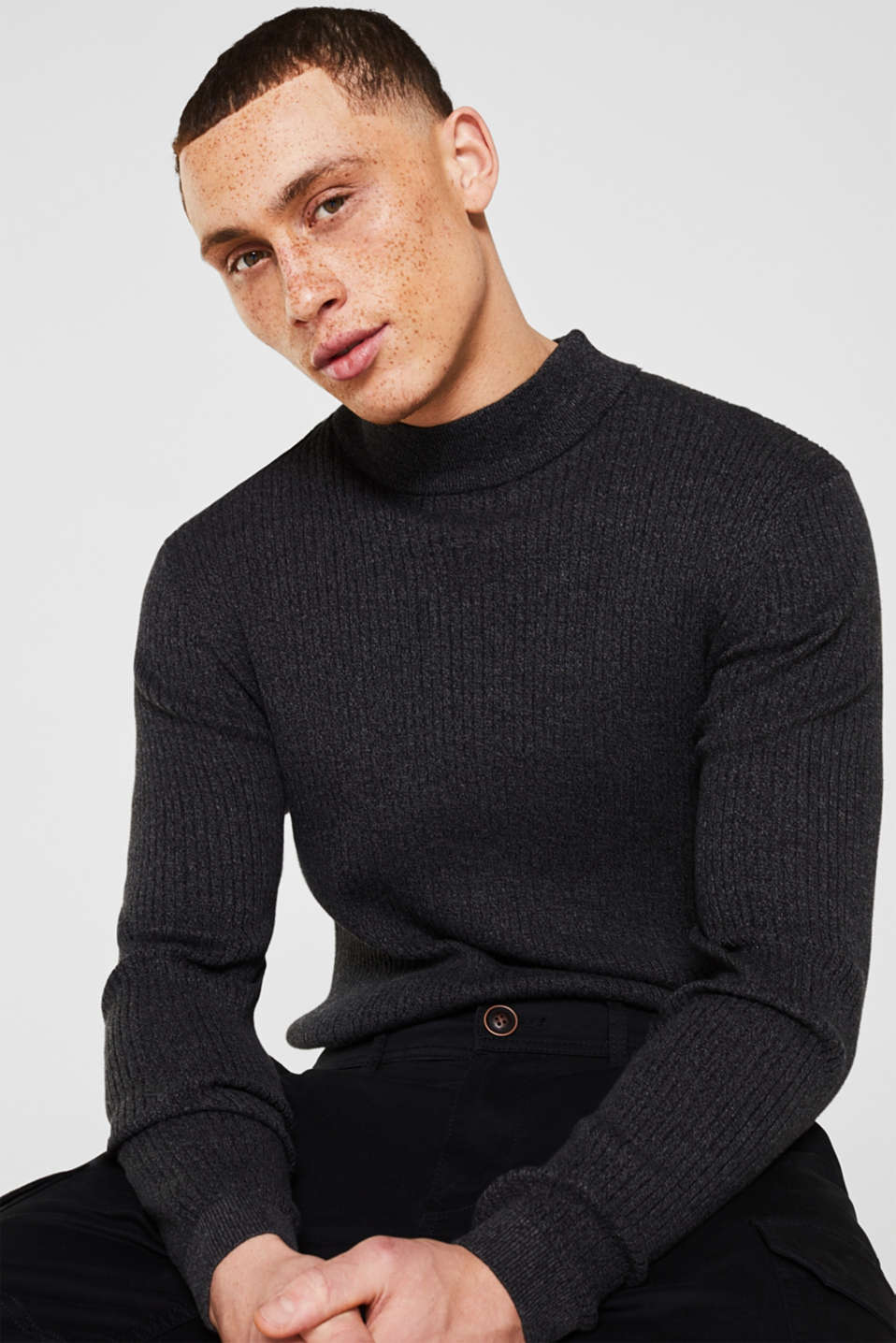 edc - Turtleneck jumper made of 100% cotton