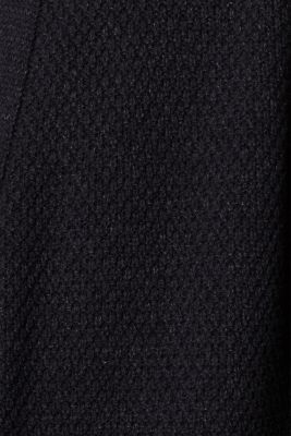 Open cardigan made of a textured knit