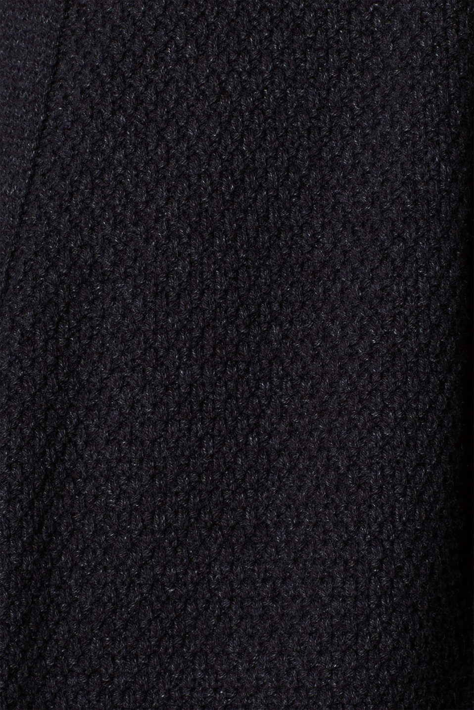 Open cardigan made of a textured knit, DARK GREY, detail image number 4