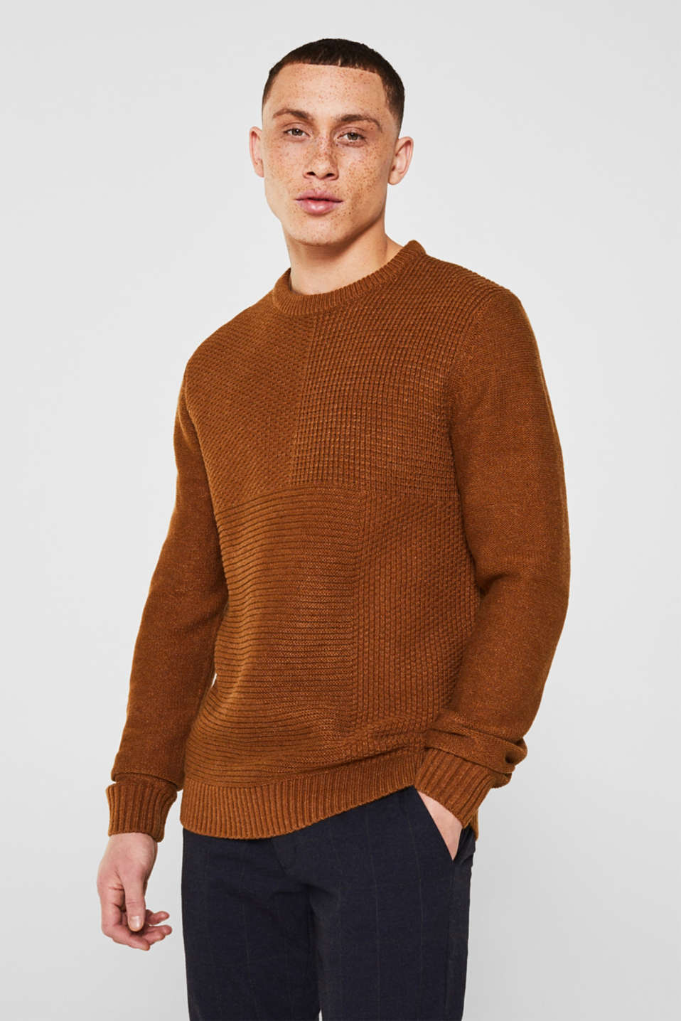 Sweaters, CAMEL, detail image number 0
