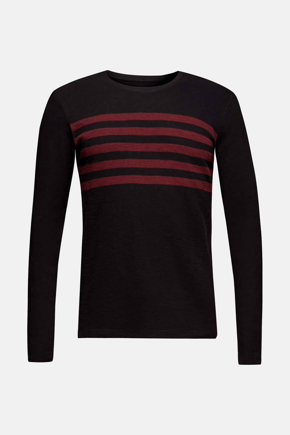 Long sleeve jersey top in 100% cotton, BLACK, detail image number 5