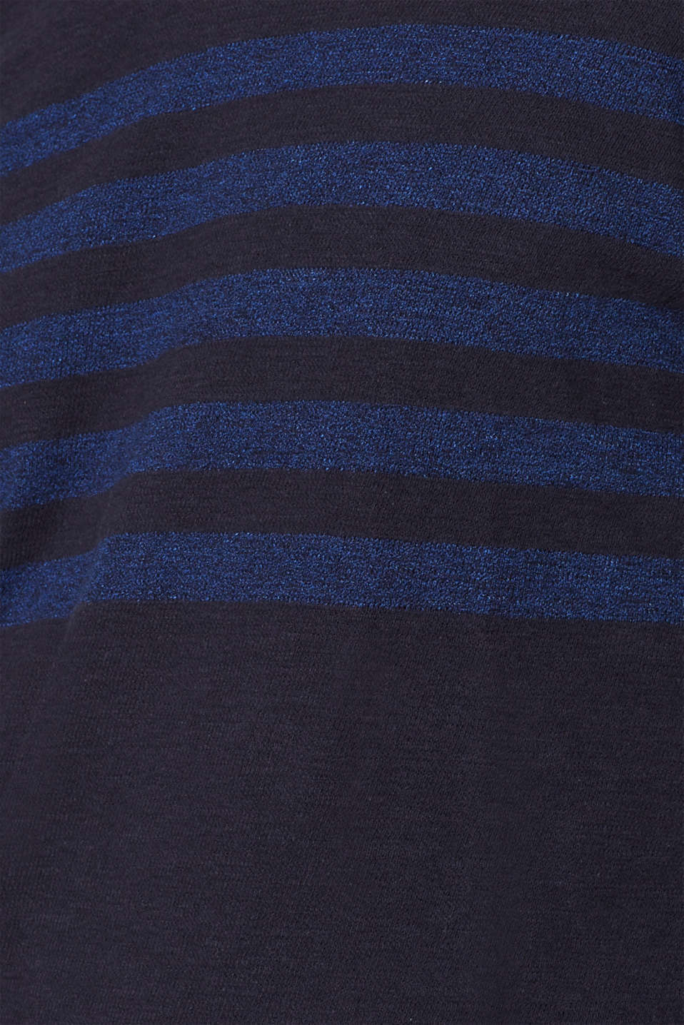 Jersey long sleeve top with stripes, NAVY, detail image number 4