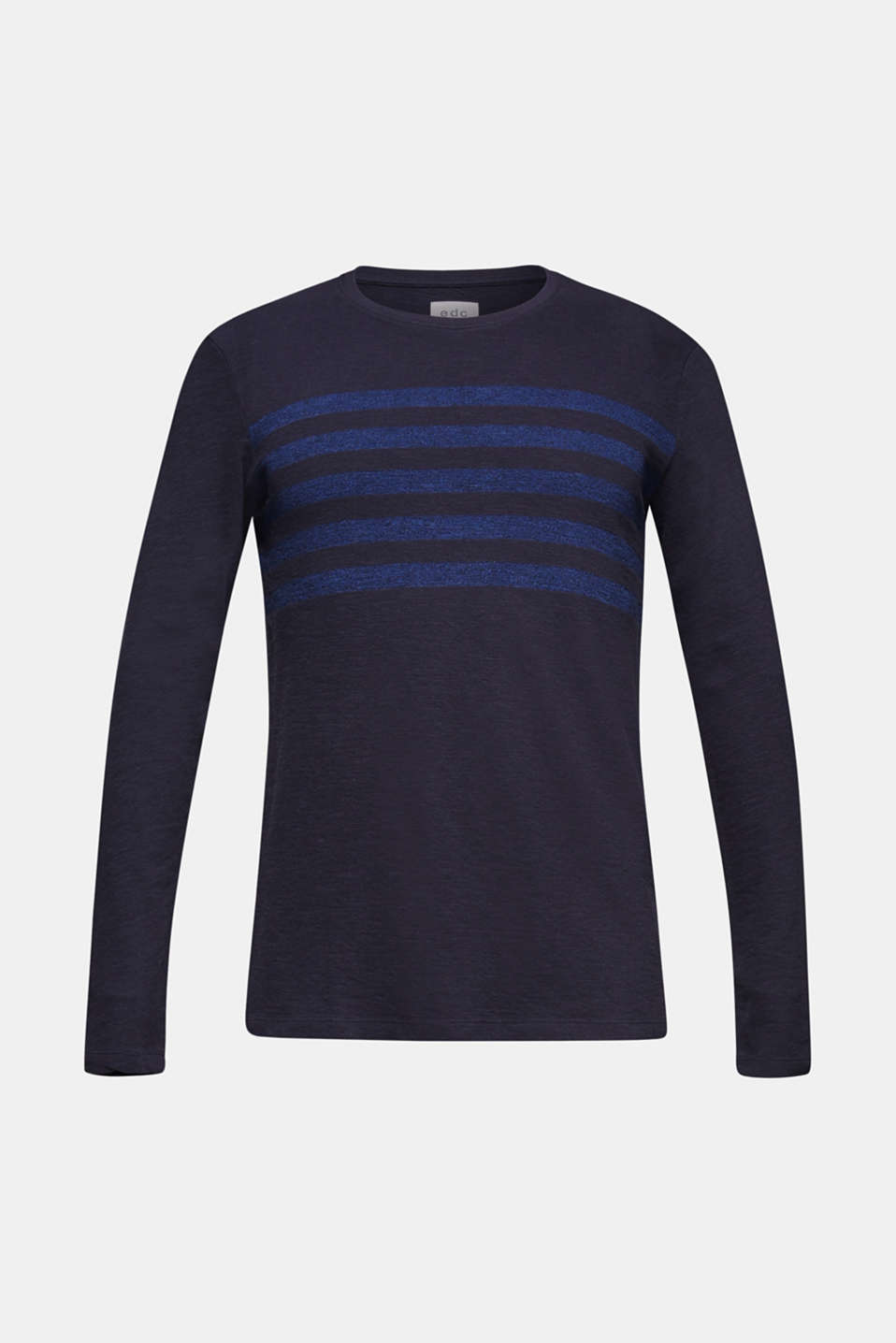 Jersey long sleeve top with stripes, NAVY, detail image number 5