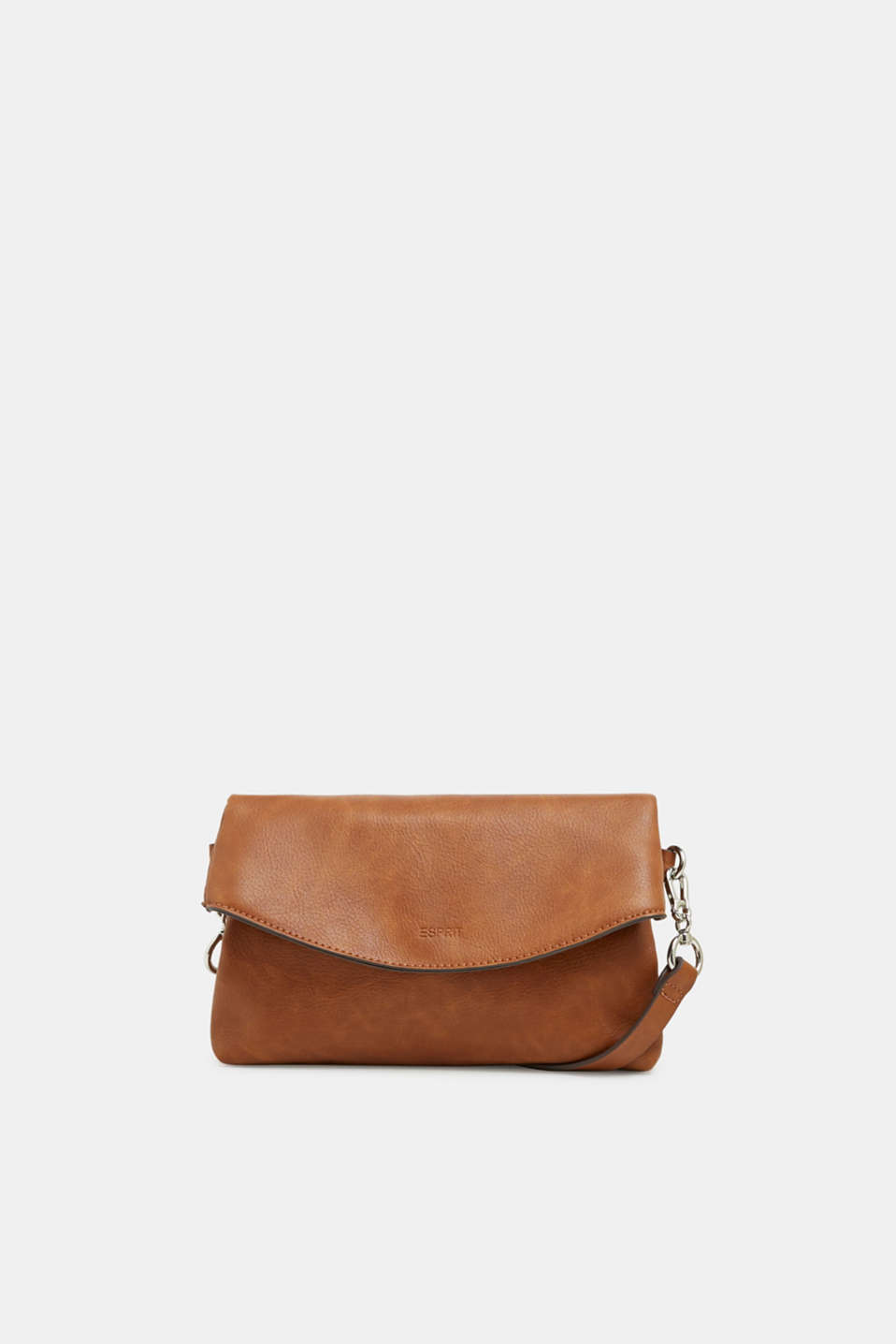 Flapover bag in faux leather, RUST BROWN, detail image number 0