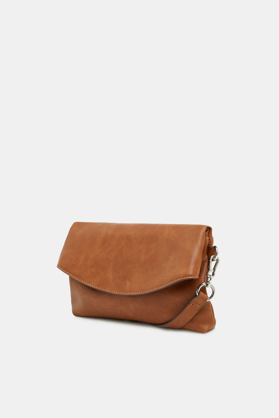 Flapover bag in faux leather, RUST BROWN, detail image number 2