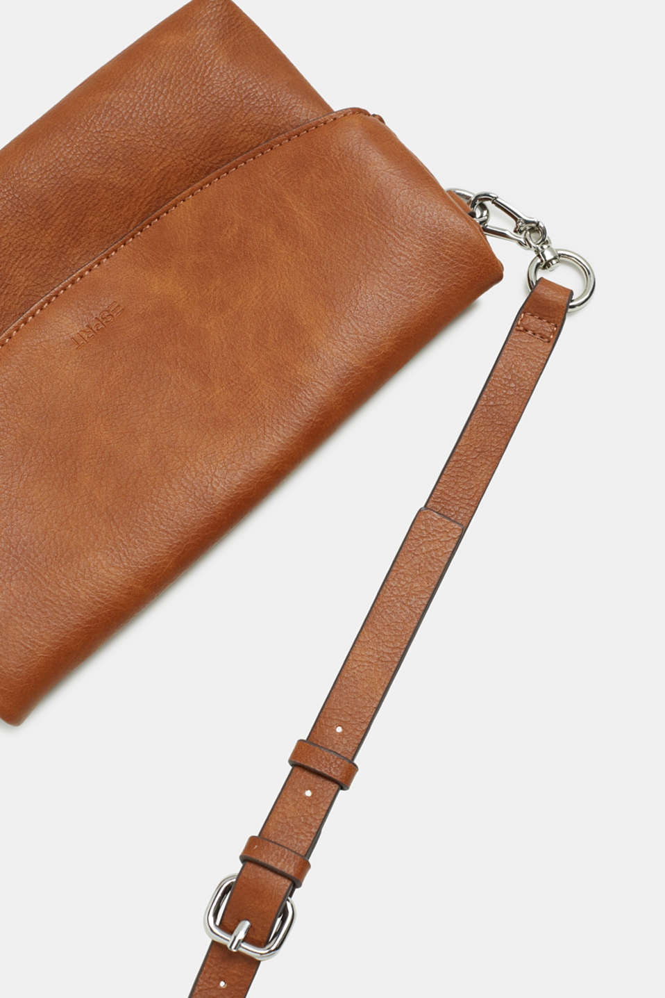 Flapover bag in faux leather, RUST BROWN, detail image number 4