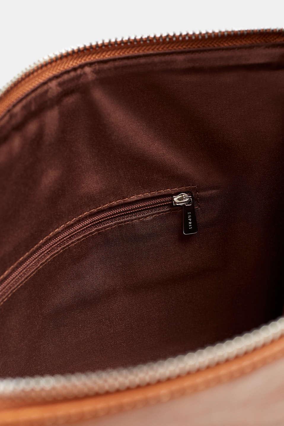 Faux leather shoulder bag, RUST BROWN, detail image number 4