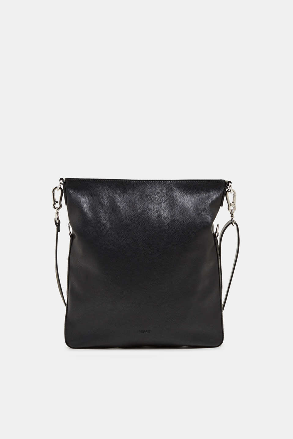 Faux leather shoulder bag, BLACK, detail image number 0