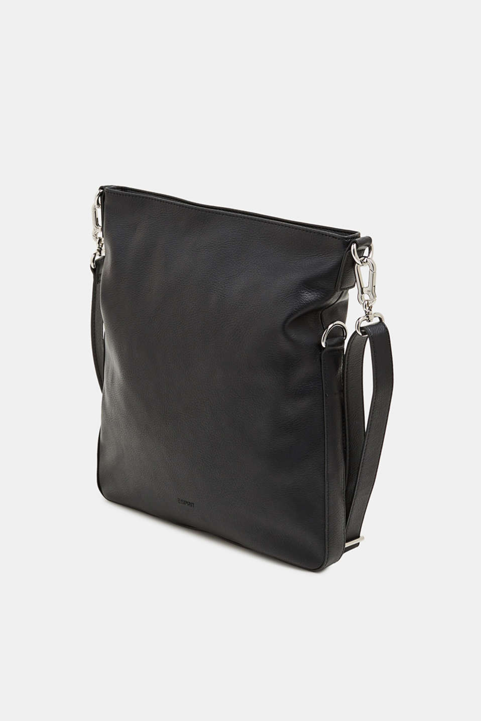 Faux leather shoulder bag, BLACK, detail image number 2