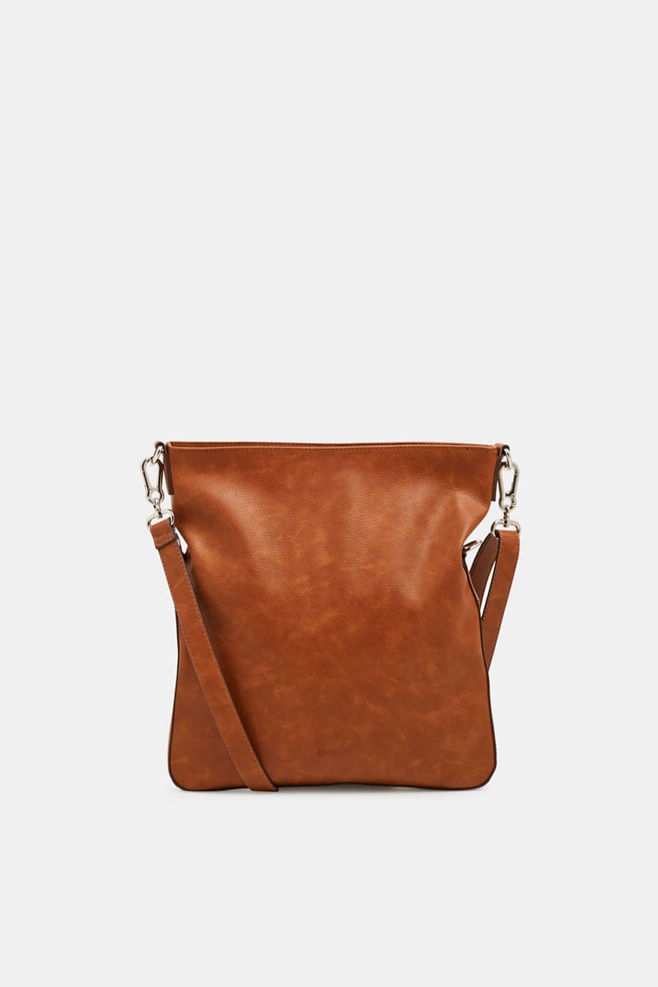Faux leather shoulder bag, RUST BROWN, detail image number 0