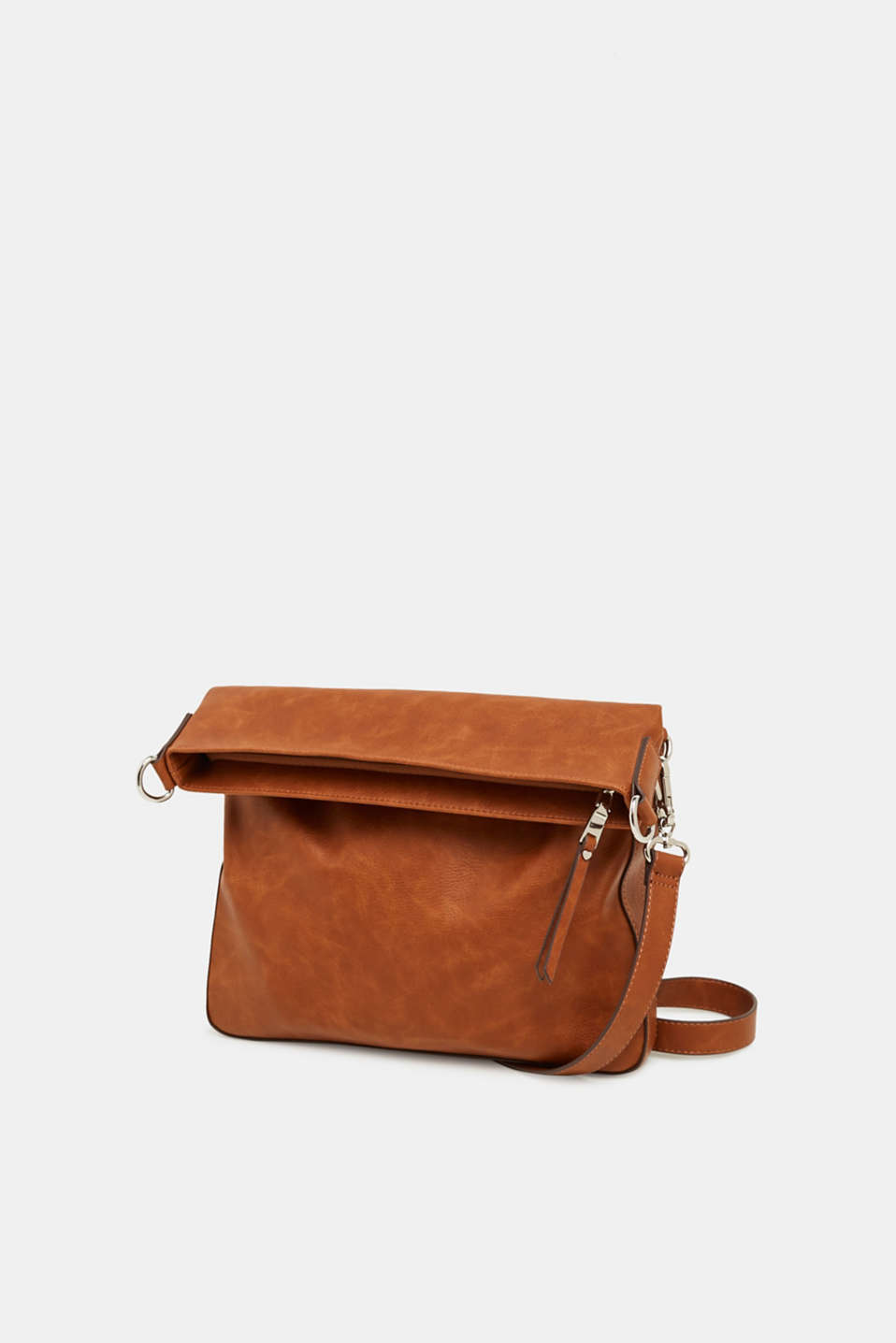 Faux leather shoulder bag, RUST BROWN, detail image number 2