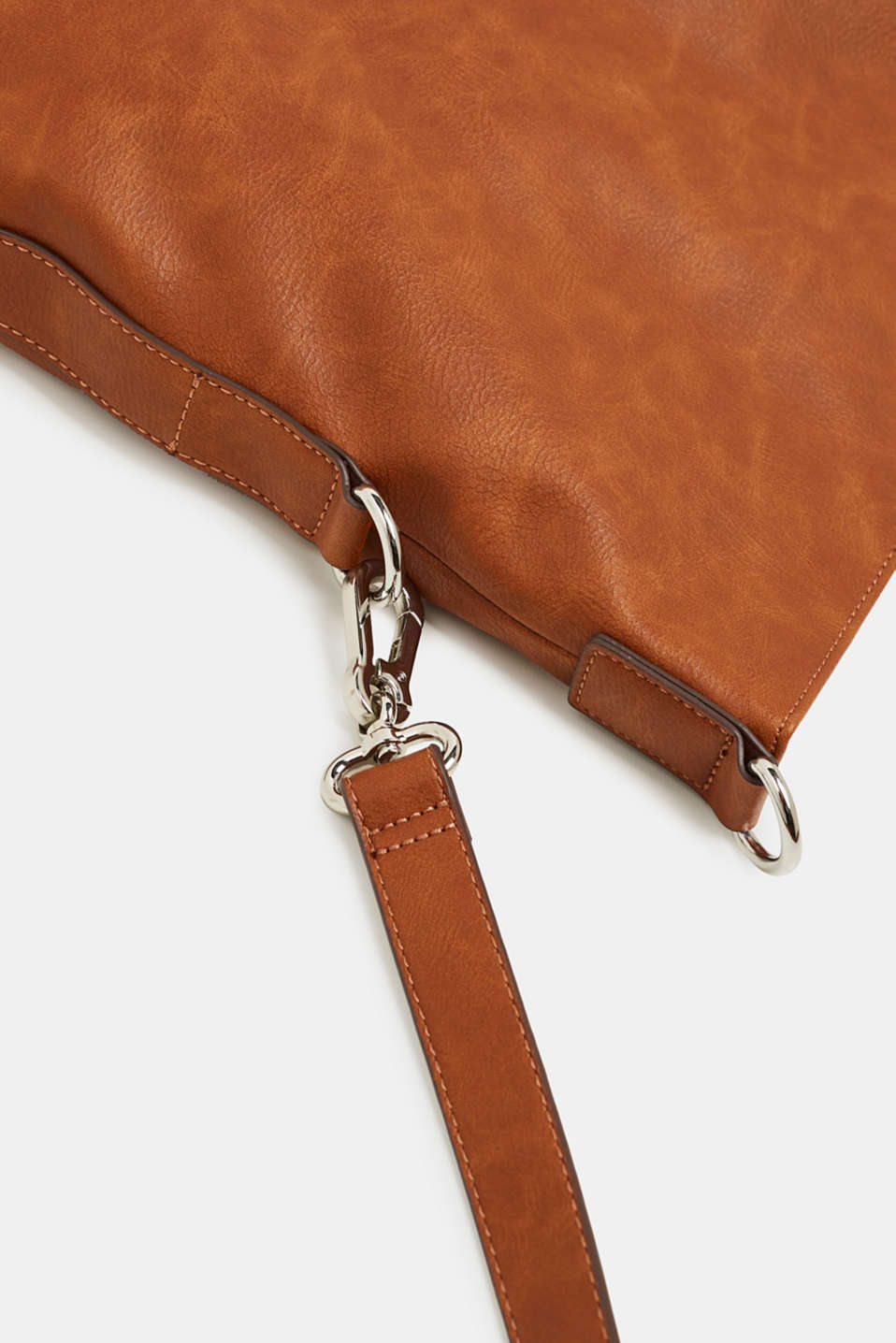 Faux leather shoulder bag, RUST BROWN, detail image number 5