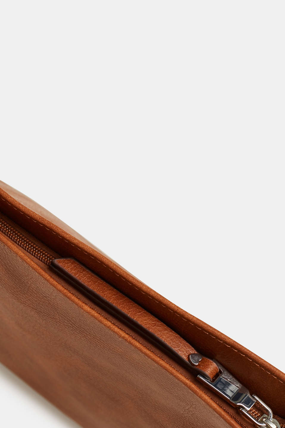 Faux leather shoulder bag, RUST BROWN, detail image number 4