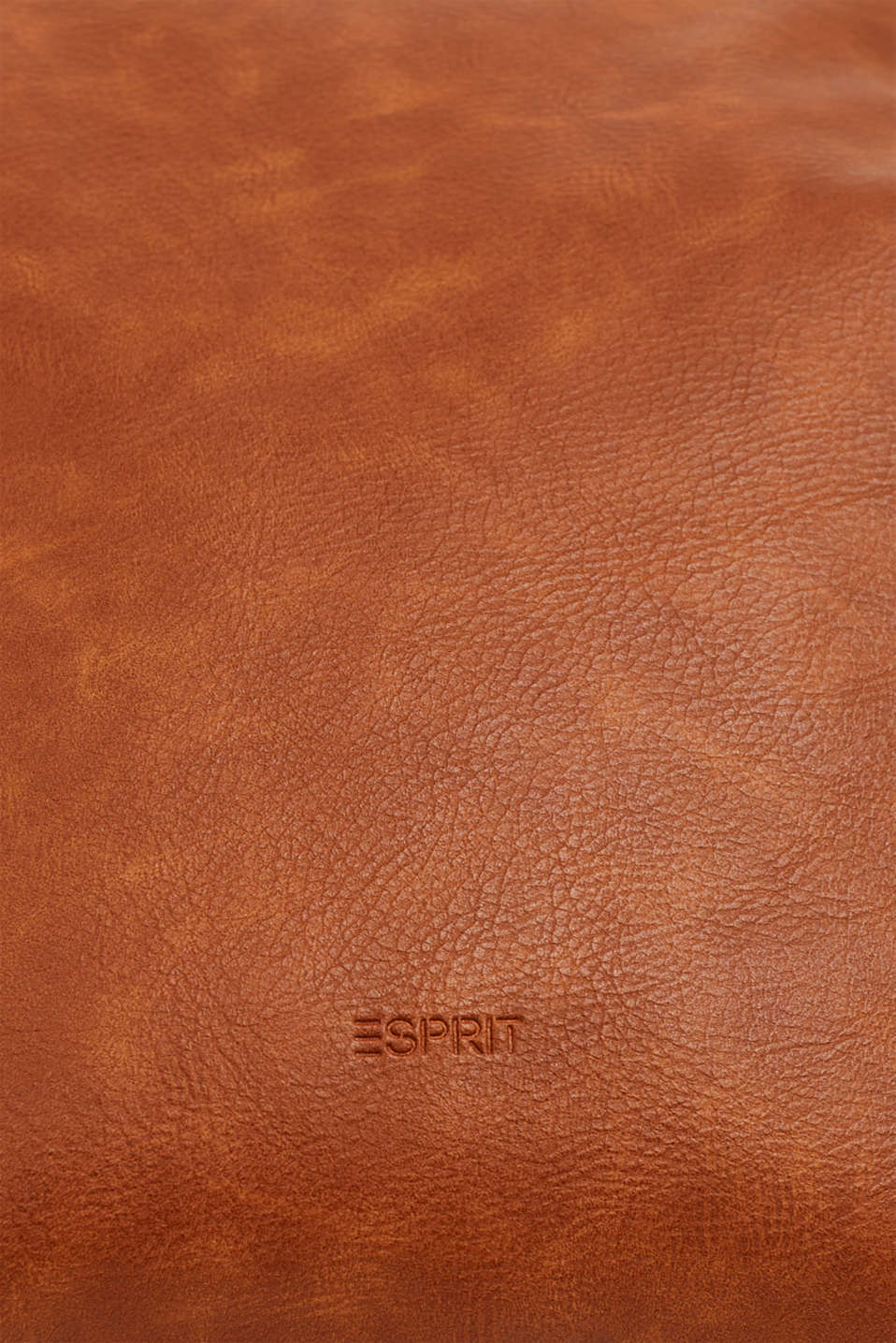 Faux leather shoulder bag, RUST BROWN, detail image number 3