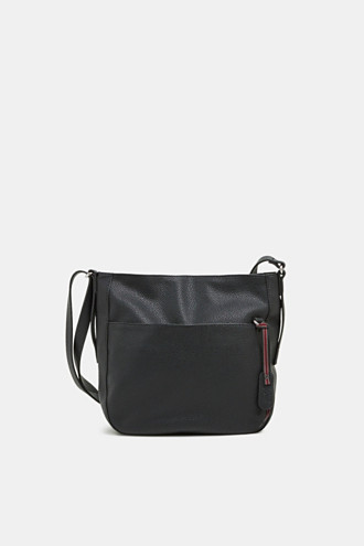 Small faux leather shoulder bag