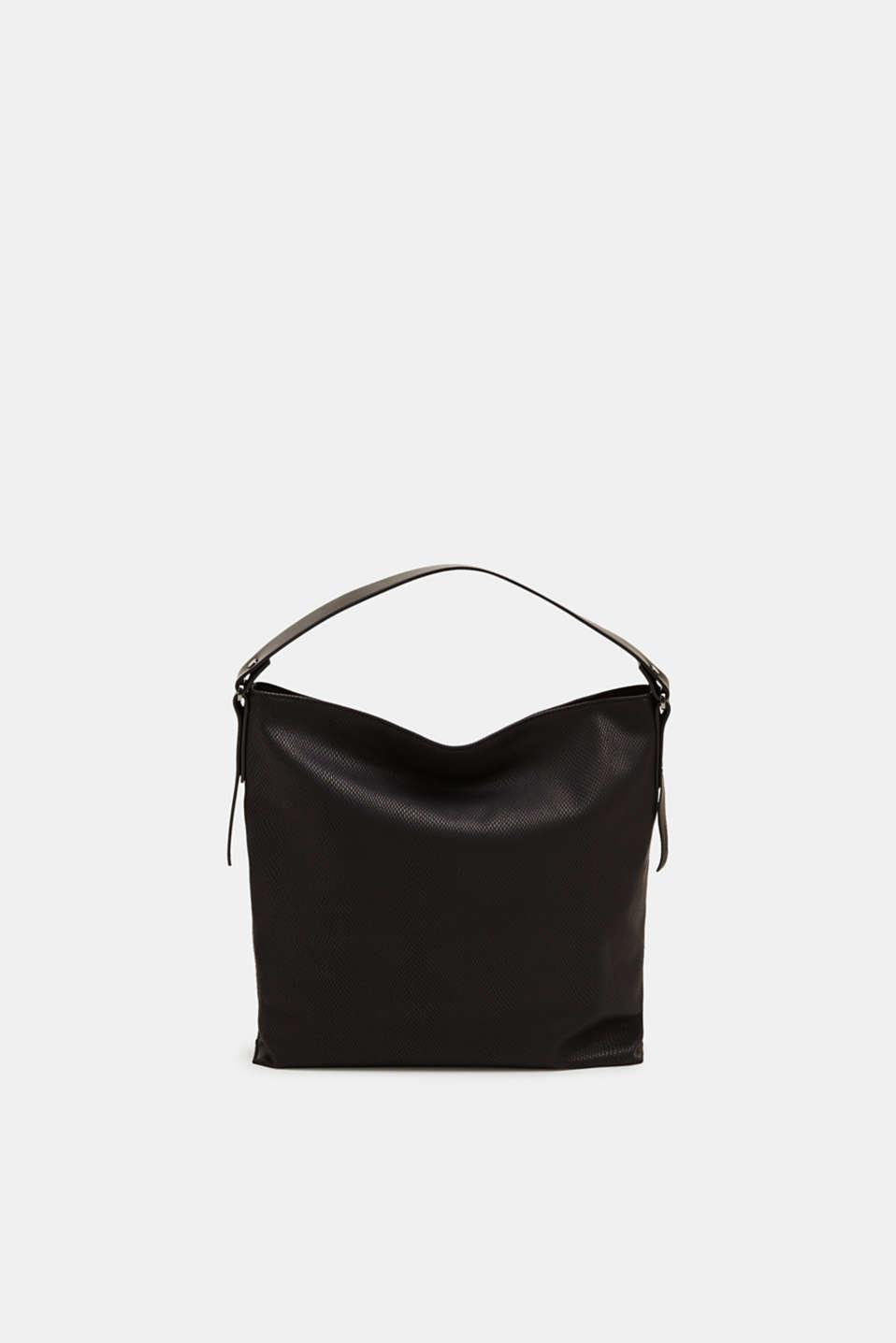 Hobo bag in an exotic look, BLACK, detail image number 0