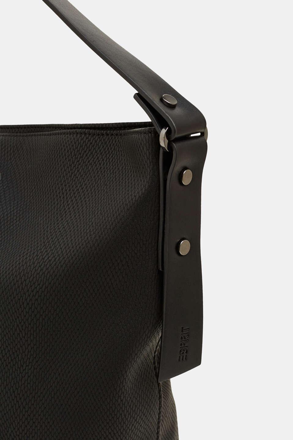 Hobo bag in an exotic look, BLACK, detail image number 3