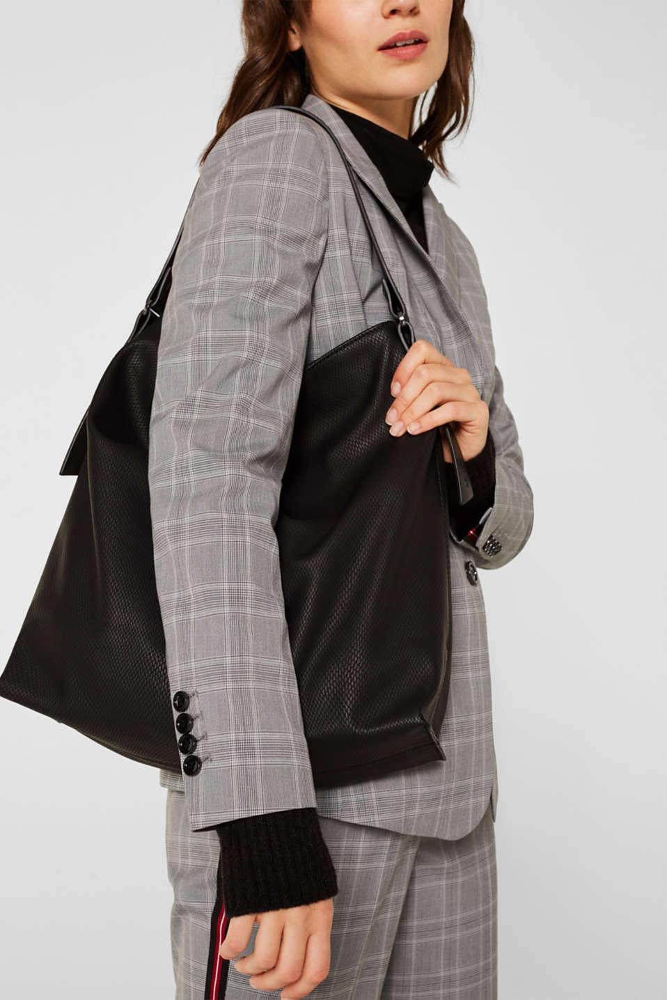 Hobo bag in an exotic look, BLACK, detail image number 1
